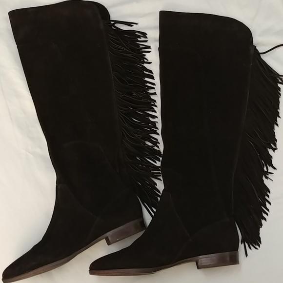 cf6c5df9e23 Black fringed boot